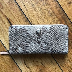 Coach Snakeskin Leather Wallet